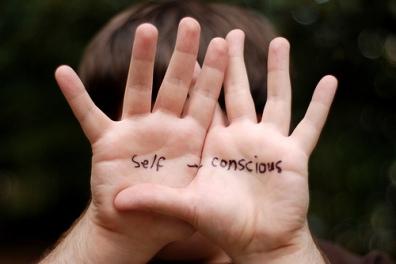 self-conscious